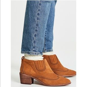 Madewell Grayson Brogue Chelsea Booties